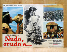 NUDO CRUDO E fotobusta poster affiche Mondo Movie Sexploitation Film 1964 Jazz