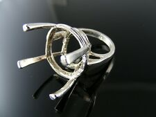 5759 RING SETTING STERLING SILVER, SIZE 6.25,20-24MM ROUND STONE