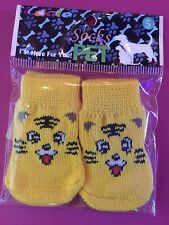S SMILEY CAT FACE Non Skid Socks Dog NEW! Puppy/Little Dog Yorkie