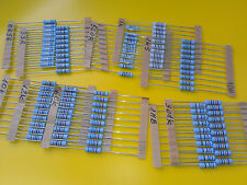 [100 pcs] Beyschlag Genuine Vintage Resistors MBE0414 Power 1W 10 Values