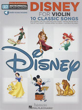 Disney Para Violín fácil Instrumental Play-along música Libro De Audio Y Descarga