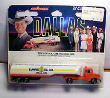Majorette DALLAS Ewing Oil co Tanker Scania JR tractor trailer truck NEW on Card