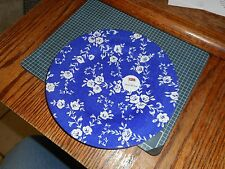 ROYAL STAFFORD BLUE AND WHITE FLORAL ROSES DAMASK SALAD PLATE Made in England