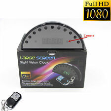 1080P HD Night Vision Alarm Clock Hidden Camera DVR Digital Video Cam /w Remote