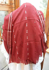 Cranberry & Silver Evening Shawl / Stole - BNWT
