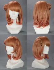 Mediun Brown AMNESIA Heroine Flaxen Anime Cosplay wig + FREE SHIPPING CAP