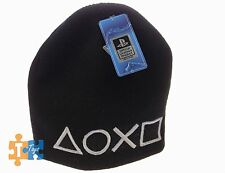 """PlayStation Controller Shapes Icons 2016 Official Licensed Black Beanie """"NEW"""""""