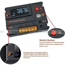 20A LCD Solar Charge Controller Auto Regulator Temperature Compensation Battery