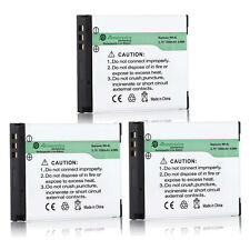3x NB-6LH NB-6L Battery for Canon Powershot D10 S95 S90 SD1300 SX500 IS SX260 HS