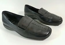 Clarks cushion soft black leather flat shoes UK 3 Eu 36 super condition