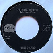 "7"" Helen Shapiro – Queen For Tonight Holland 1972 Nm Vinyl"