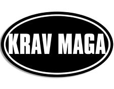 3x5 inch Oval KRAV MAGA Sticker - decal martial arts fight fighting fighter fun