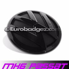 NEW VW Volkswagen B7 PASSAT MK6 GLOSS BLACK Rear Trunk Badge Emblem (100mm NEW)