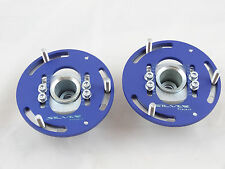 Camber Plates E36 3D Drift BMW top mounts Front x2 - Domlager blue
