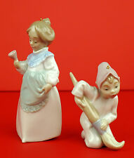 VintageLLADRO #5939 Mrs Claus Ringing the Bell #5938 DUENDE ELF BOY Ornaments G3