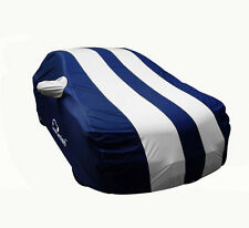 Autofurnish Stylish Silver Stripe Car Body Cover For Mahindra KUV100 -  Arc Blue