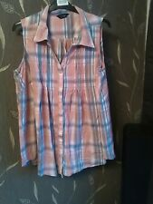 womens yours clothing sleeveless blouse size 24
