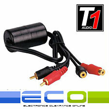 T1 Audio Car or DJ Amplifier Amp RCA Ground Loop Isolator Noise Hum Filter