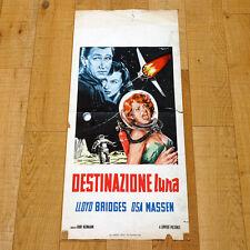 DESTINAZIONE LUNA locandina poster Lloyd Bridges Osa Massen Rocket Ship X-M