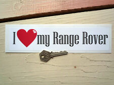 """I love my range rover classic car autocollant 9 """"boîte à outils Solihull evoque"""