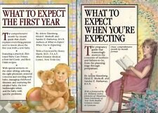 What to Expect When Expecting, What to Expect The First Year, 2 Books Motherhood