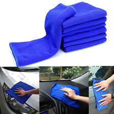 5pcs Soft Microfiber Absorbent Towel Car Cleaning Wash Cloth Multi-function Blue