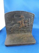 DOOR STOP CAST IRON WESTERN THEME COWBOYS LASSO HORSES ROPING COWS CATTLE
