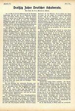 Dreißig Jahre Deutscher Schulverein Historischer Aufsatz von 1910