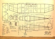 PEANUT SCALE JODEL D.11 FLYING MODEL AIRPLANE PLAN 13""