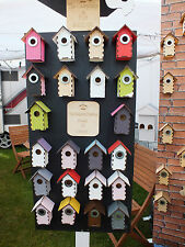 SPECIAL OFFER coloured Bird Boxs Bird Huts £2.99 EACH