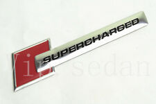 1PCS ALUMINUM RED SUPERCHARGED STICKER CAR SIDE FRONT LOGO EMBLEM DECAL BADGE