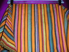 ORANGE STRIPED FABRIC FROM MEXICO