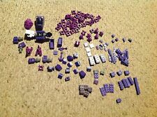 Used, Lot of  Mega Bloc Pieces, mostly Purple.   See Pics for Details.  Lot B