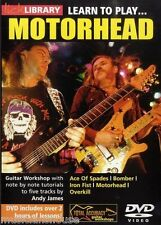 LICK LIBRARY Learn To Play MOTORHEAD ACE OF SPADES Rock Metal Lesson Guitar DVD