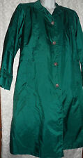 FLEET STREET GREEN TRENCH RAIN COAT WOMENS SIZE 10 WITH LINING VGUC