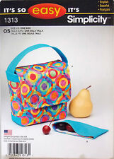 Simplicity Sewing Pattern 1313 Almuerzo Bolso y Snack Pack Sin Cortar