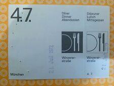 4.7. Voucher Ticket  OTL AICHER HFG ULM OLYMPISCHE SPIELE 1972 MÜNCHEN MUNICH