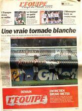Cahier Spécial Coupe du Monde de L'équipe n°17531 du 16 juin 2002 - Football