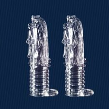 Reusable Loong head Condom Latex lubricant Penis Impotence Erection