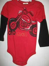 New Long Sleeve ONESIE 12 months MOTORCYCLE knit 1pc MOTO MAN