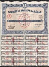 Indochina, 1927. Bond 100 Fr, Kebao Mining Company