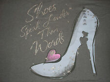 4xl Cinderella Shoes Tee Shirt NWT Disney Store v-Neck
