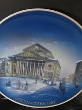 Rosenthal Classic Rose CHRISTMAS 1987 MUNICH NATIONAL THEATRE Annual Plate