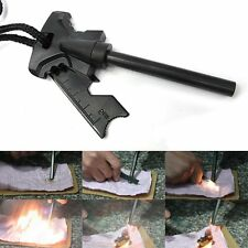 Outdoor Survival Magnesium Flint Scraper Stone Fire Starter Lighter Kit Camping