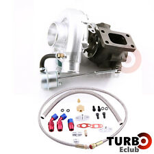 New T3 T4 T3T4 TO4E Turbo Turbocharger + Oil Drain Return  FEED Line Kit TCB