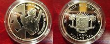 2007 Ivory Coast Large  silver proof 10 Euro Soccer (Football) World Cup Germany