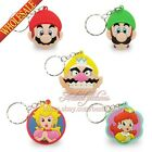 Free Shipping 1pcs/set Super Mario PVC Key Chains Cute Cartoon Key Rings