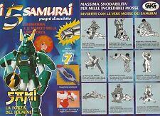 X0231 I 5 Samurai - Sami - Pubblicità 1992 - Vintage Advertising