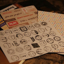 Cute Vintage DIY Calendar Paper Sticker for Scrapbooking Diary Planner Sticky FM