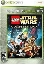 LEGO Star Wars: The Complete Saga Platinum Family Hits (Microsoft Xbox 360) GOOD